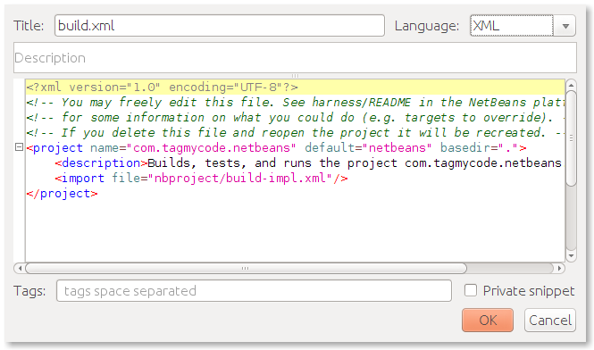 netbeans_new_snippet