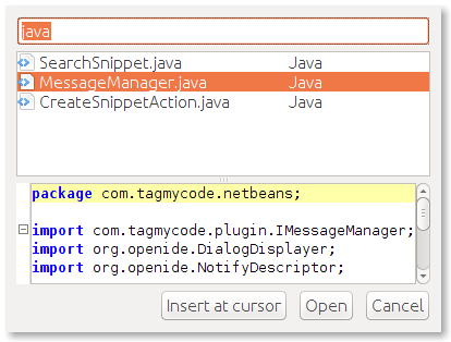 netbeans_quick_search